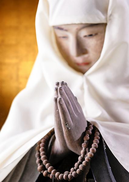 當麻寺護念院の中将姫座像